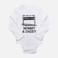 See you at the finish Long Sleeve Infant Bodysuit