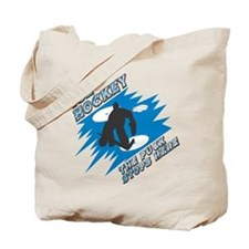 The Puck Stops Here Tote Bag