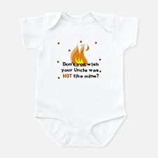 Uncle Hot like Mine Baby Onesie