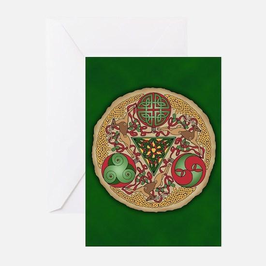 Celtic Reindeer Shield Greeting Cards (Pk of 20)
