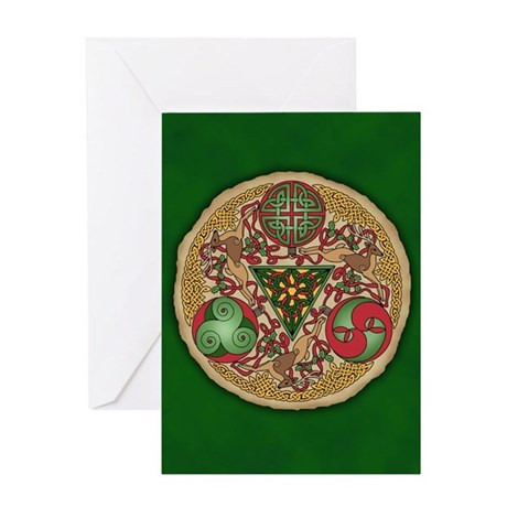 Celtic Reindeer Shield Greeting Card