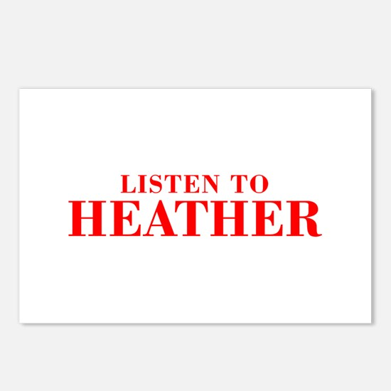 LISTEN TO HEATHER-Bod red 300 Postcards (Package o