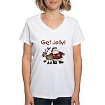 Get Jolly Women's V-Neck T-Shirt