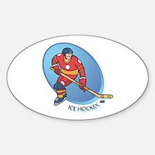 Ice Hockey Oval Decal