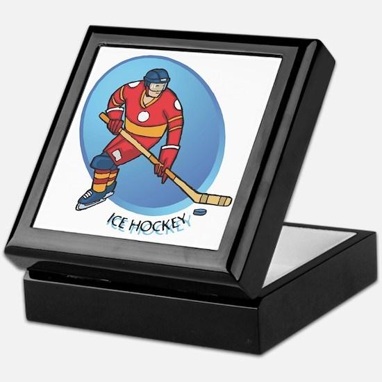 Ice Hockey Keepsake Box