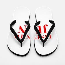 LISTEN TO JEAN-Bod red 300 Flip Flops