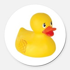 Classic Rubber Ducky Toy Round Car Magnet