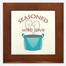 SEASONED WITH LOVE Framed Tile