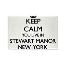 Keep calm you live in Stewart Manor New Yo Magnets