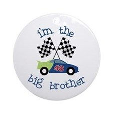 big brother race car Ornament (Round)
