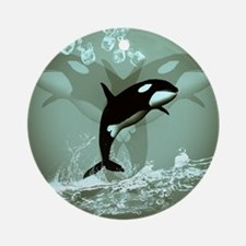 Amazing Orca Ornament (Round)