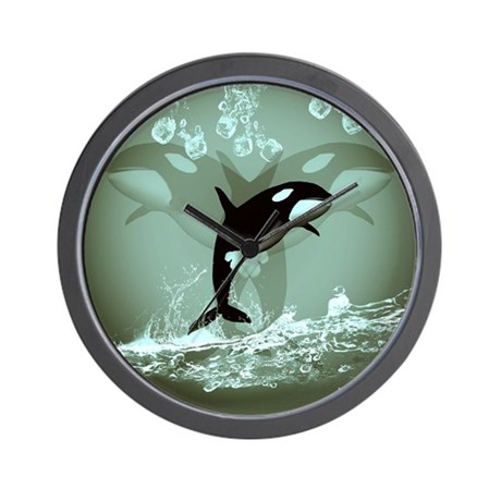 Amazing Orca Wall Clock By Fantasyworld7