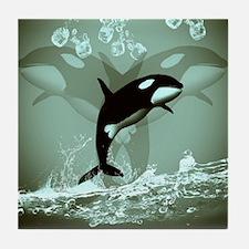 Amazing Orca Tile Coaster