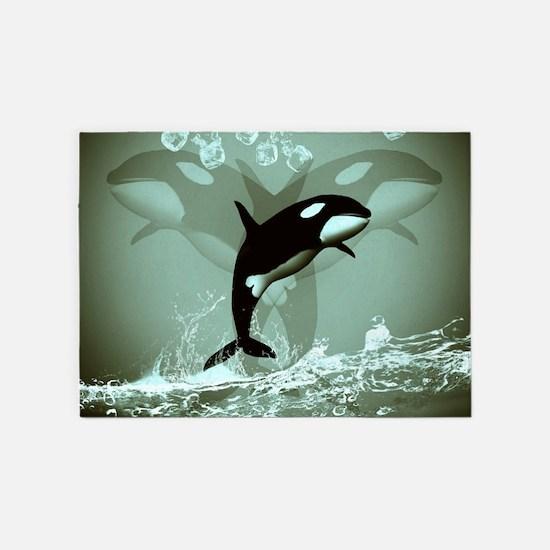 Amazing Orca 5'x7'Area Rug