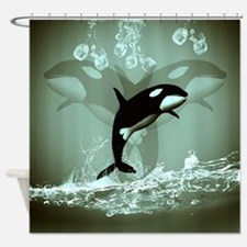Amazing Orca Shower Curtain