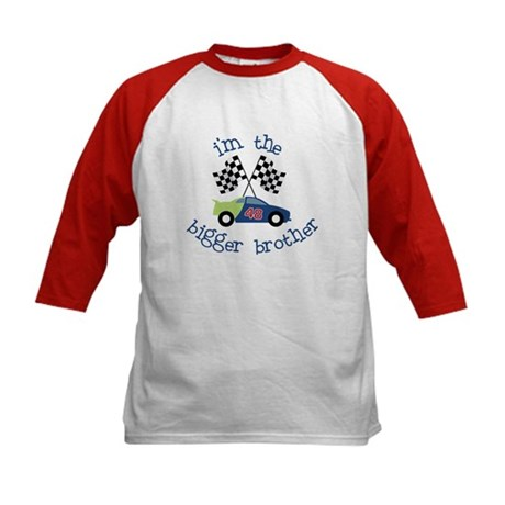 bigger brother race Kids Baseball Jersey