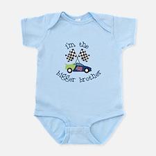bigger brother race Infant Bodysuit