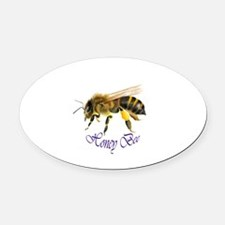 Honey Bee Painting Oval Car Magnet