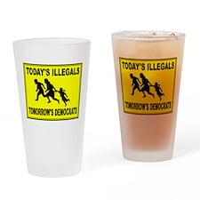 AMERICA'S ENEMY Drinking Glass