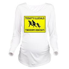 AMERICA'S ENEMY Long Sleeve Maternity T-Shirt