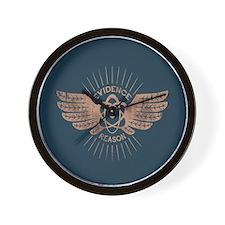 Winged Atom Wall Clock