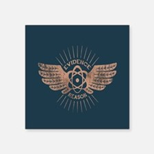 "Winged Atom Square Sticker 3"" x 3"""