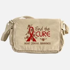 Heart Disease Find the Cure 3 Messenger Bag