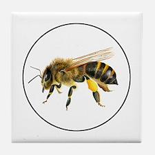 Honey bee watercolour / watercolor painting Tile C