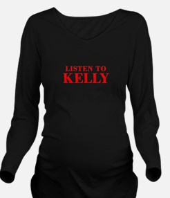 LISTEN TO KELLY-Bod red 300 Long Sleeve Maternity