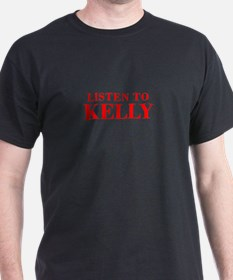 LISTEN TO KELLY-Bod red 300 T-Shirt
