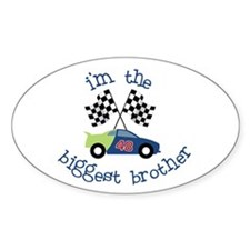 biggest brother race Oval Decal