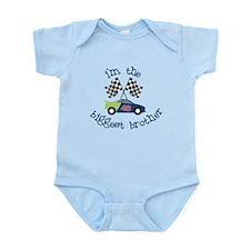 biggest brother race Infant Bodysuit