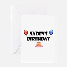 Ayden's Birthday Greeting Card