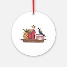 COUNTRY SHELF Ornament (Round)