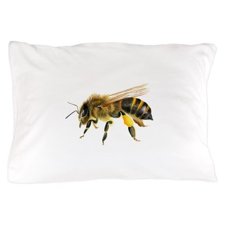 Honey Bee Watercolour Watercolor Painting Pillow By