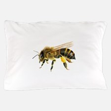 Honey bee watercolour / watercolor painting Pillow