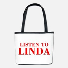 LISTEN TO LINDA-Bod red 300 Bucket Bag