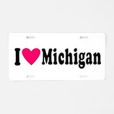 I love Michigan Aluminum License Plate