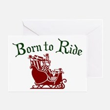 Santa Born To Ride Greeting Card