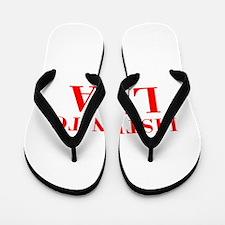 LISTEN TO LISA-Bod red 300 Flip Flops