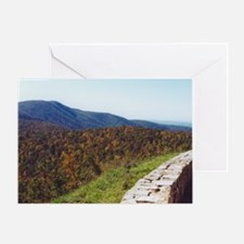 Skyline Drive Overlook Greeting Card