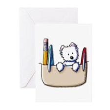 Pkt Protector Westie Greeting Cards (Pk of 20)