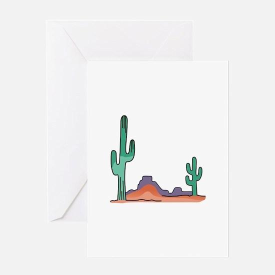 DESERT SCENE Greeting Cards