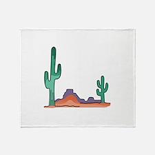 DESERT SCENE Throw Blanket