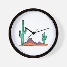 DESERT SCENE Wall Clock