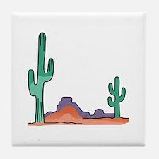 DESERT SCENE Tile Coaster