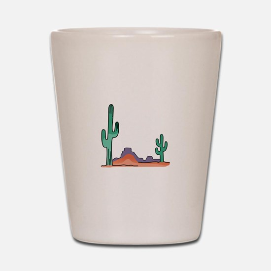DESERT SCENE Shot Glass