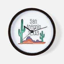 San Antonio Texas Wall Clock
