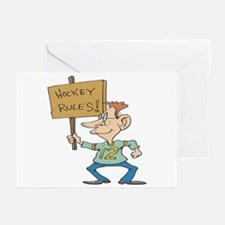 Hockey Rules Greeting Cards (Pk of 10)