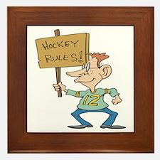 Hockey Rules Framed Tile